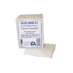 Gauze Swabs 7.5cm x 7.5cm(100) per pack