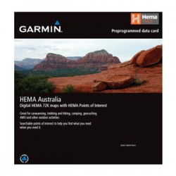 Garmin Australia & New Zealand Topographical Micro SD map card featuring Hema